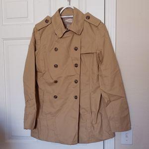 Forever 21 tan double breasted Jacket coat Medium
